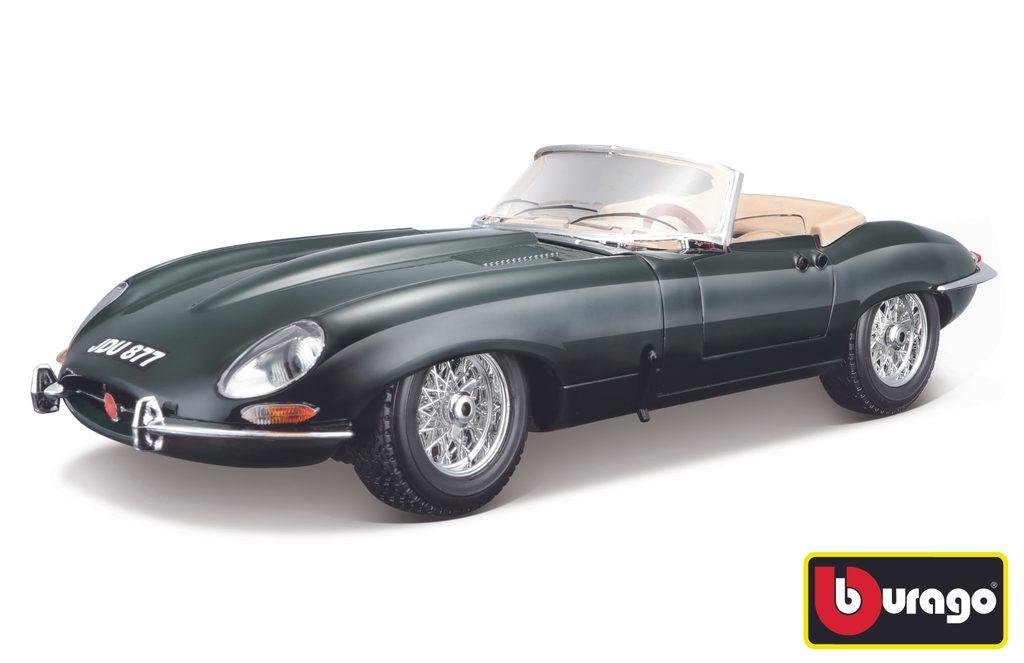 """Bburago 1:18 Jaguar """"""""E"""""""" Cabriolet (1961) Green, Bburago, W007246"""