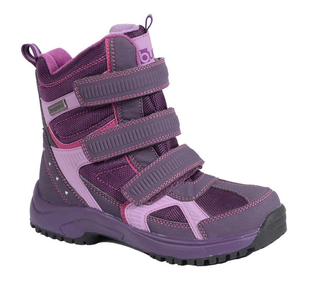 obuv zimní 3 pásky, Bugga, B085, fialová - 37