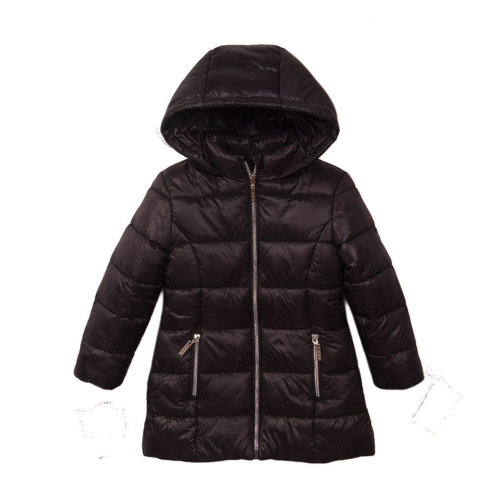 Kabát dívčí prošívaný Puffa, Minoti, JW2125, černá - 152/158