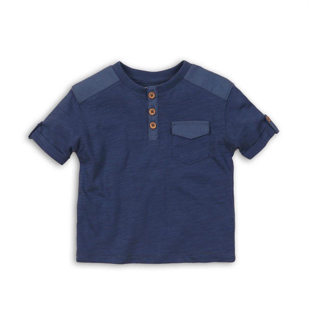 Tričko chlapecké s krátkým rukávem, Minoti, CACTUS 7, modrá - 68/74