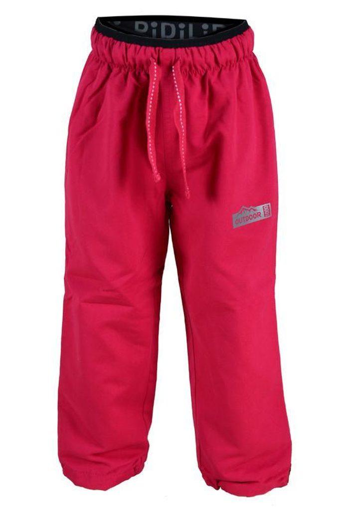 kalhoty sportovní s fleezem outdoorové, Pidilidi, PD1014-03, růžová - 152