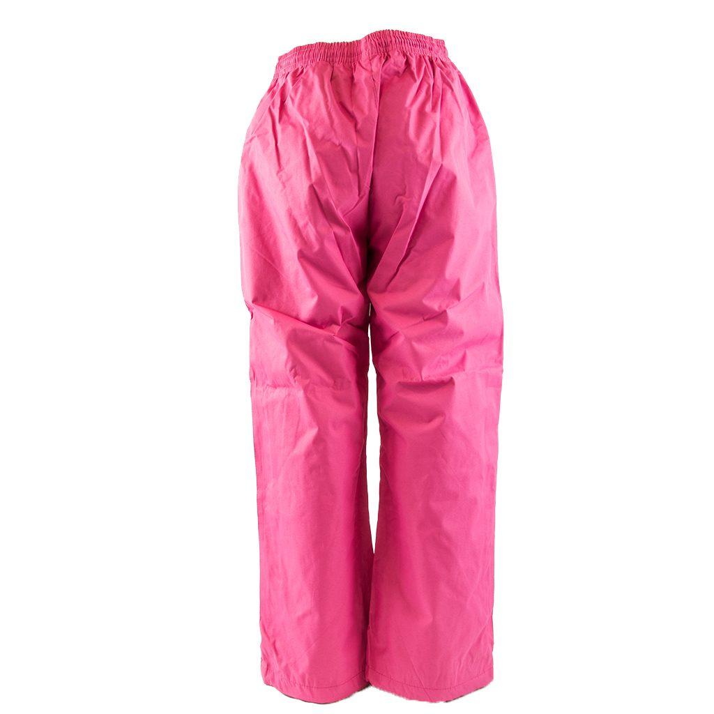 Kalhoty šusťákové bez šňůrky v pase, PD335, růžová - 128