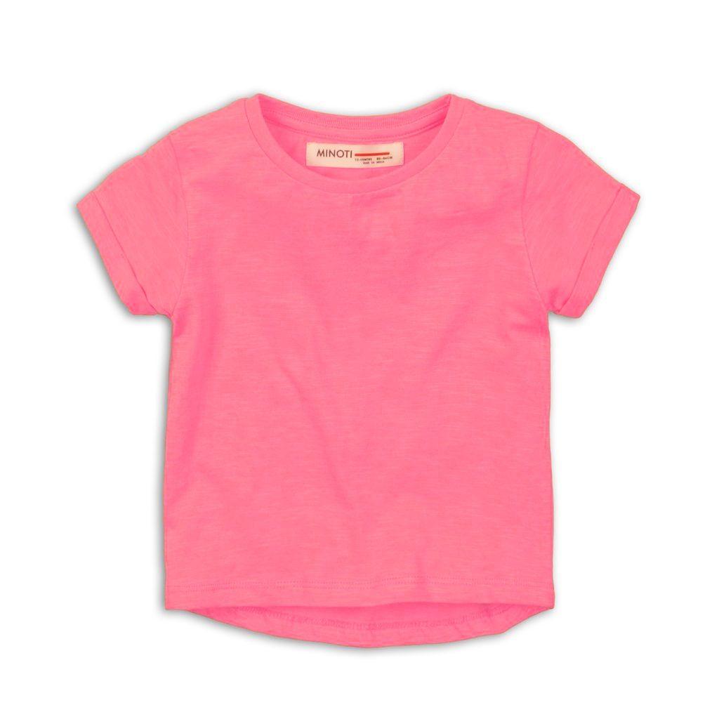 Tričko dívčí s krátkým rukávem, Minoti, 2SLUBT07, růžová - 98/104