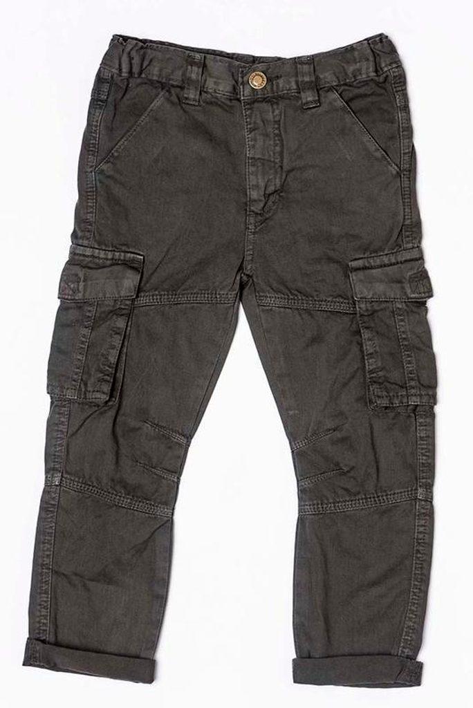 Kalhoty chlapecké, Minoti, DINO 5, šedá - 98/104