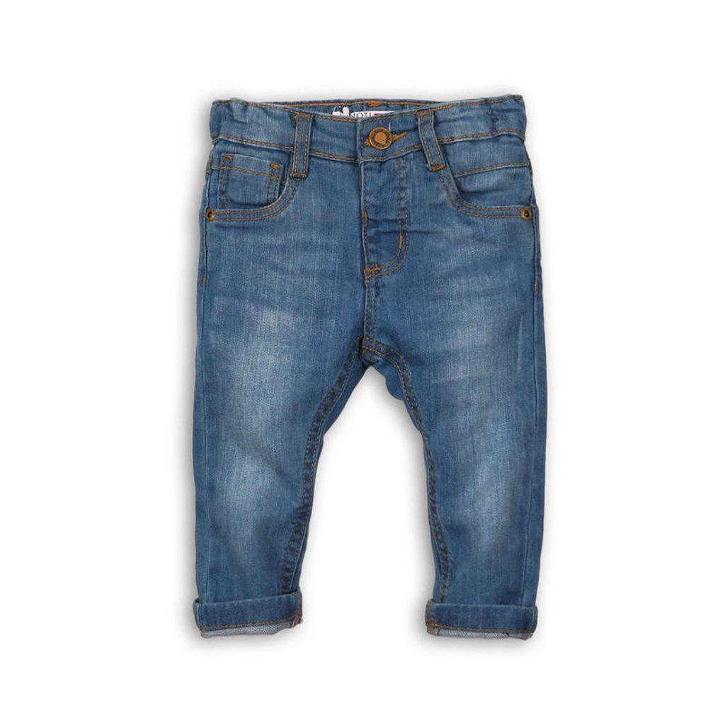 Kalhoty chlapecké džínové s elastenem, Minoti, CRAFTED 6, světle modrá - 80/86
