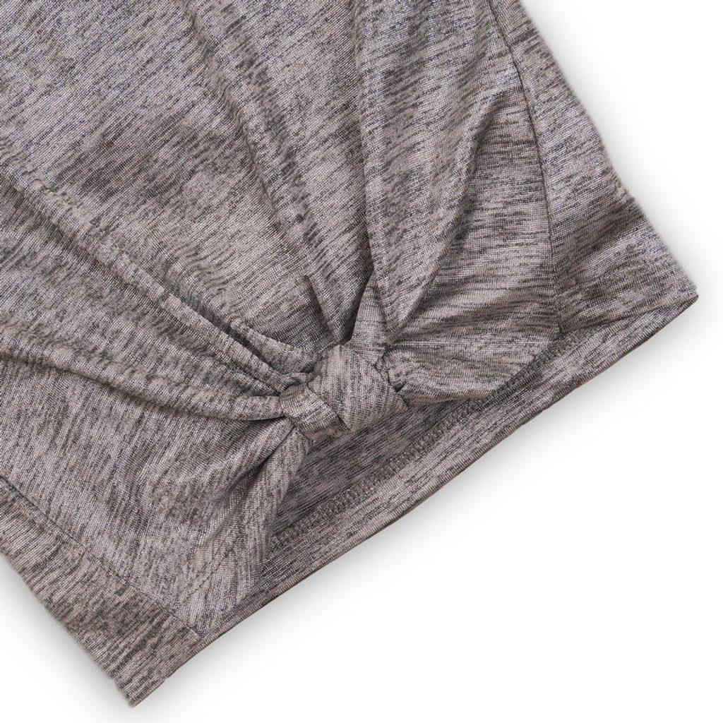 Tričko dívčí s krátkým rukávem, Minoti, SHIMMER 1, šedá - 104/110