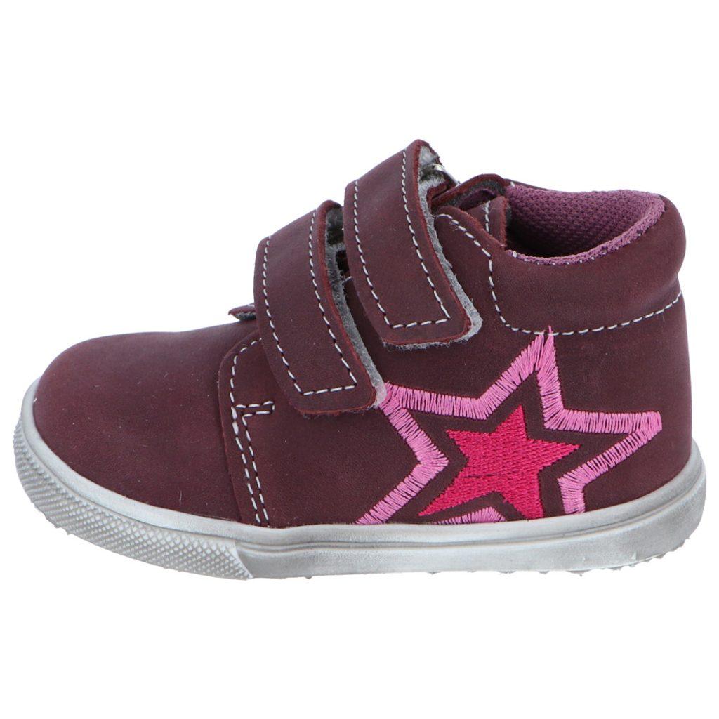 dívčí celoroční barefoot obuv JONAP 022mv - vínová hvězda, Jonap, fialová - 27