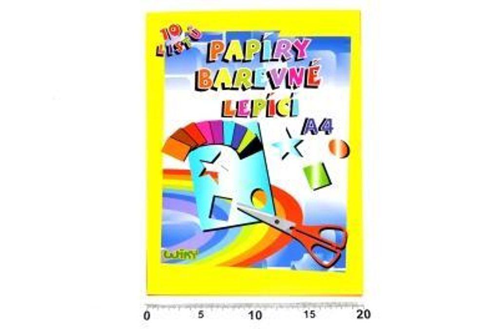 Papíry barevné W lepící A4, 10 listů, WIKY, 886463