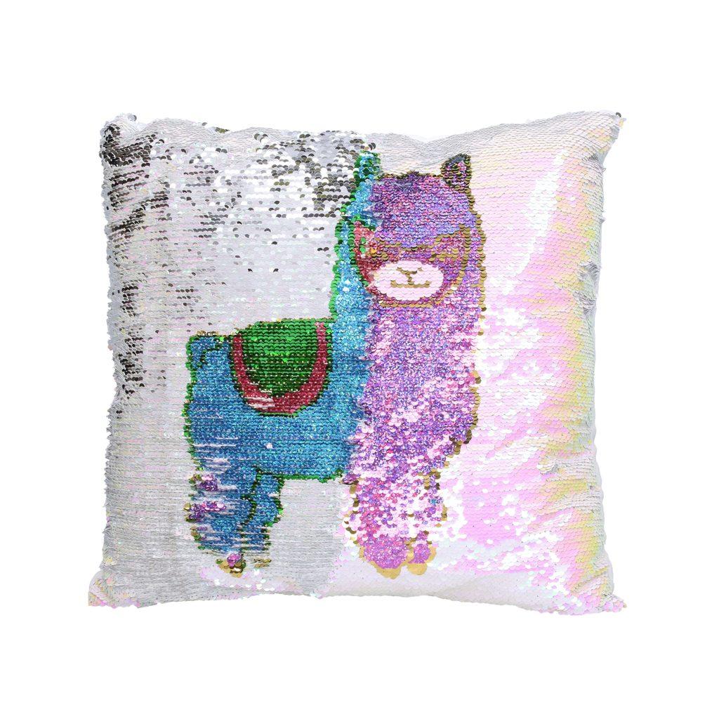 Polštářek, lama, růžový, 38 x 38 cm, Wiky, W002168