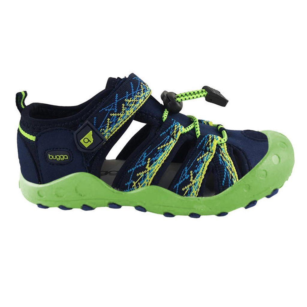 sandály sportovní OUTDOOR, Bugga, B00156-19, zelená - 35