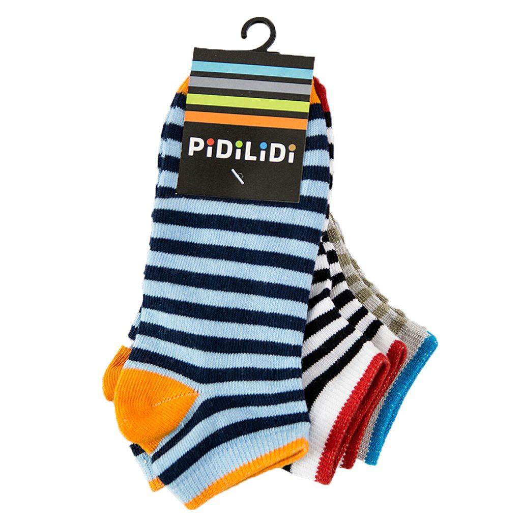 ponožky kotníkové chlapecké - 3pack, Pidilidi, PD0131, Kluk - 38-39
