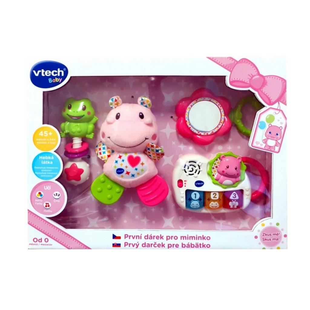 Vtech První dárek pro miminko CZ - růžový, Vtech, W006965
