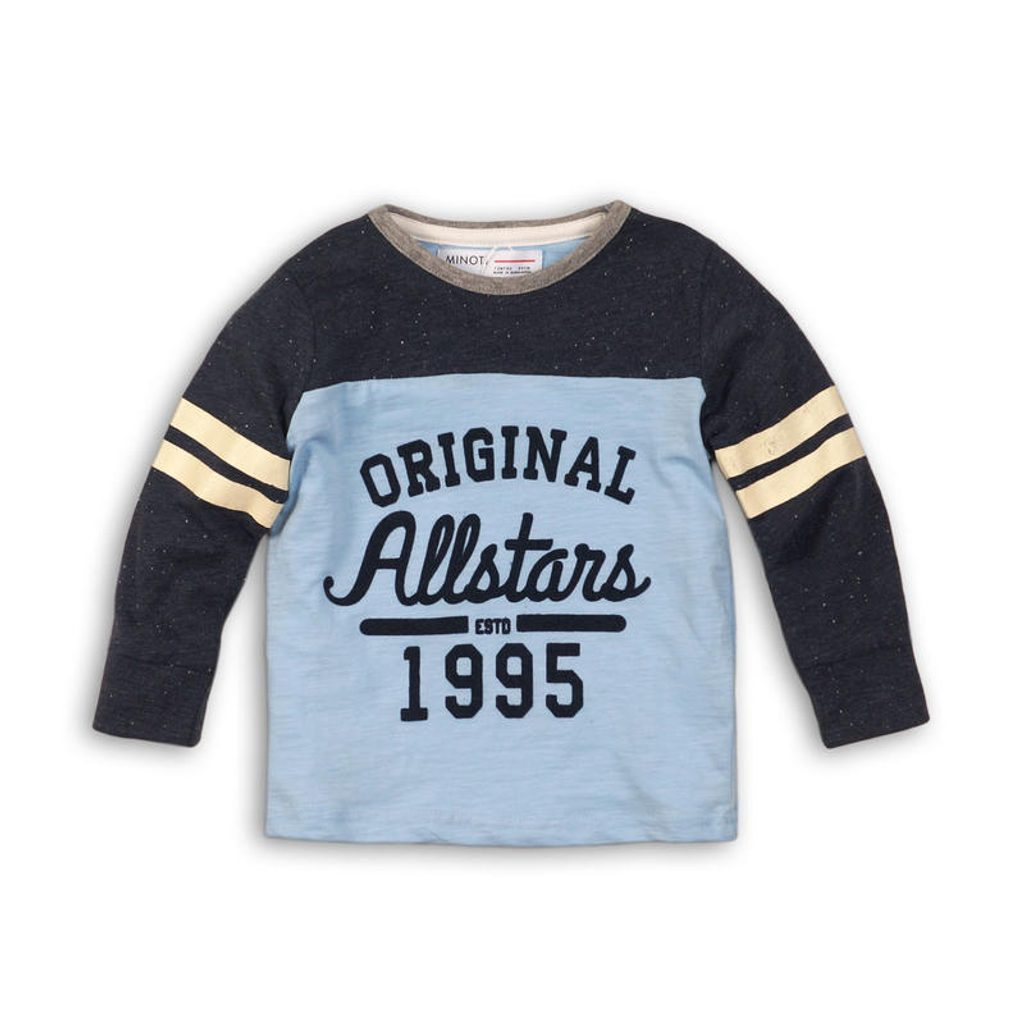 Tričko chlapecké s dlouhým rukávem, Minoti, ALLSTAR 3, modrá - 68/80