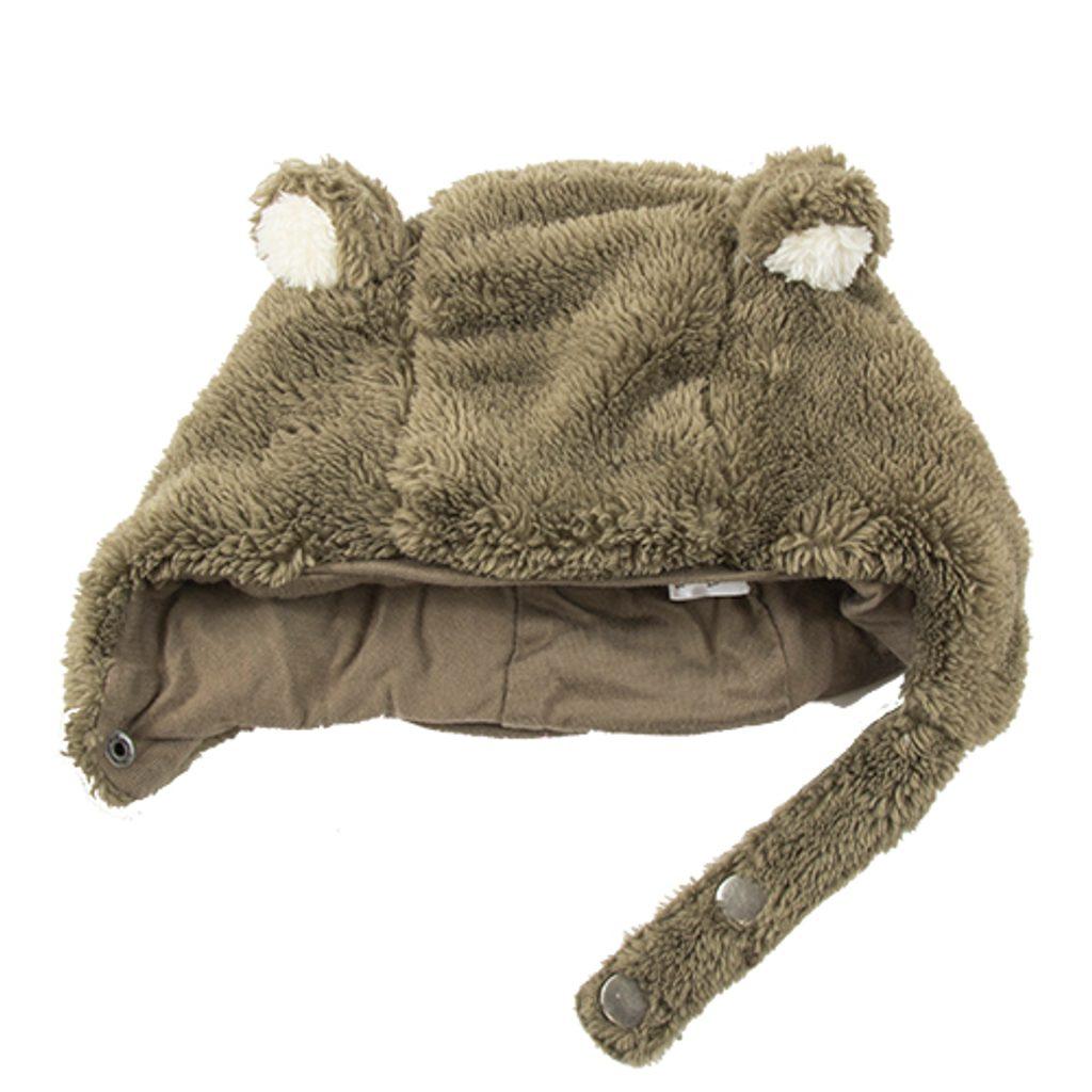 Čepice zimní medvěd, Pidilidi, PD322, hnědá - 80/86