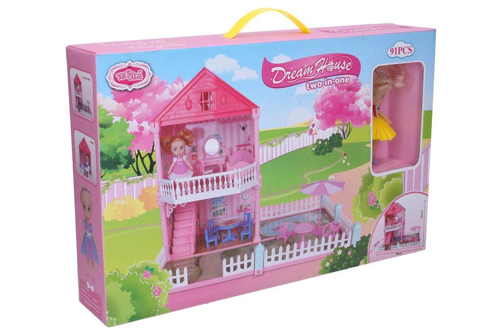 Domeček pro panenky se zahrádkou 50x34x42 cm, Wiky, W006530