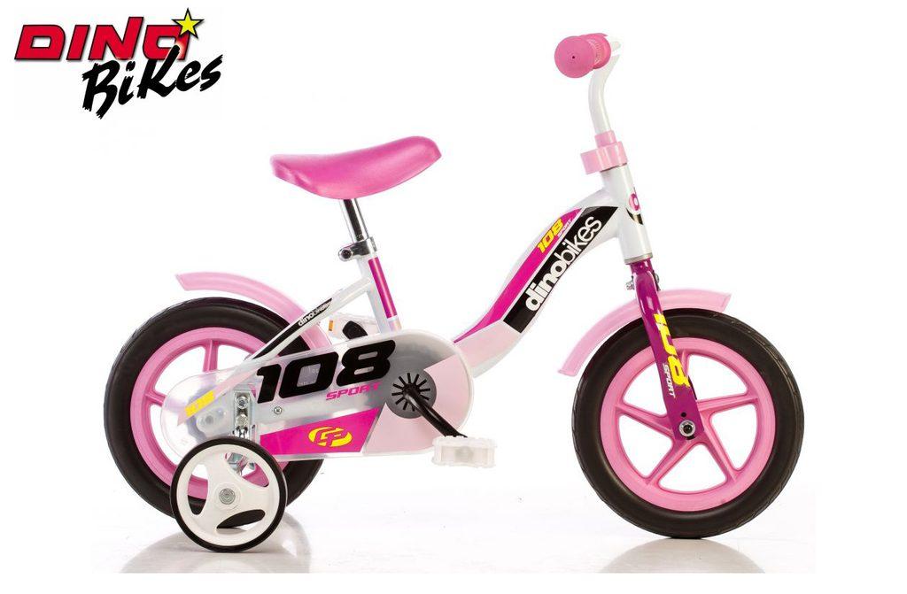 Dětské kolo růžové, Dino Bikes, W012675
