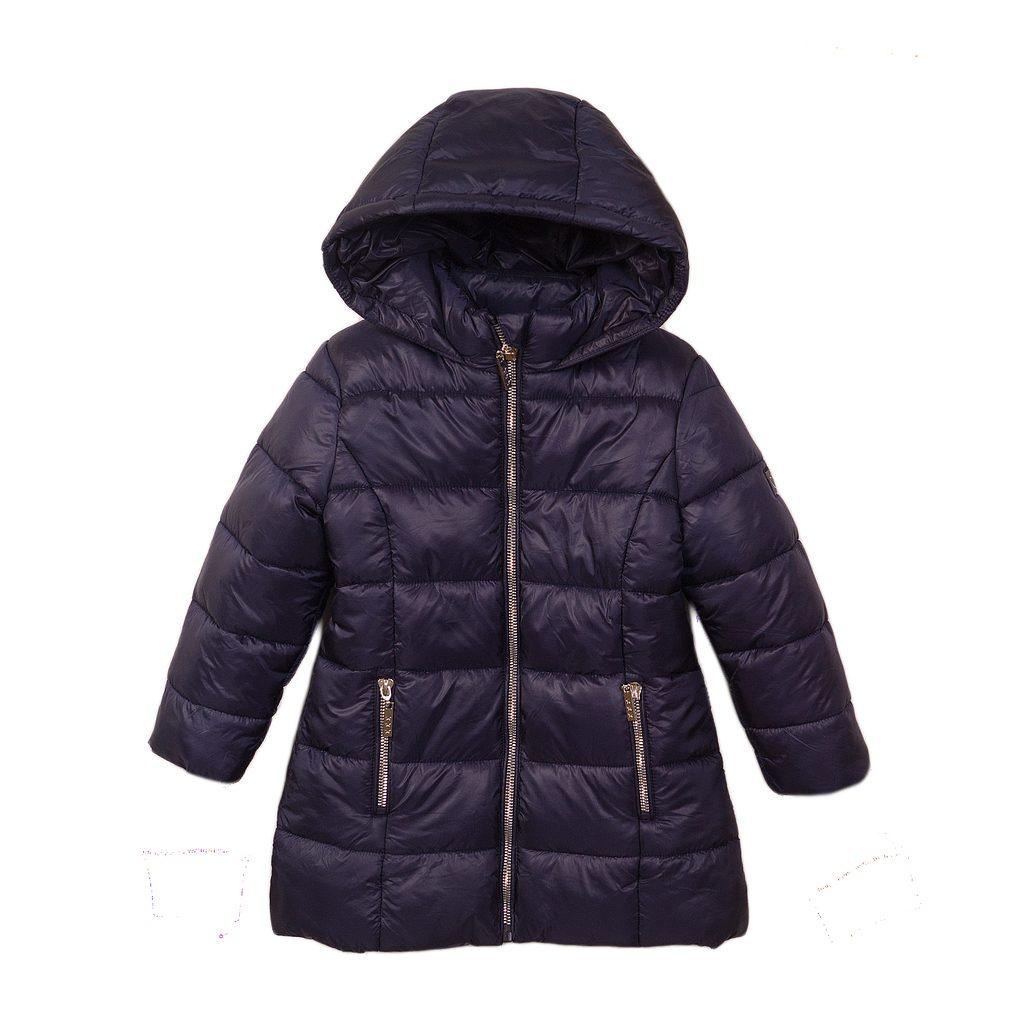 Kabát dívčí prošívaný Puffa, Minoti, JW2124, modrá - 128/134