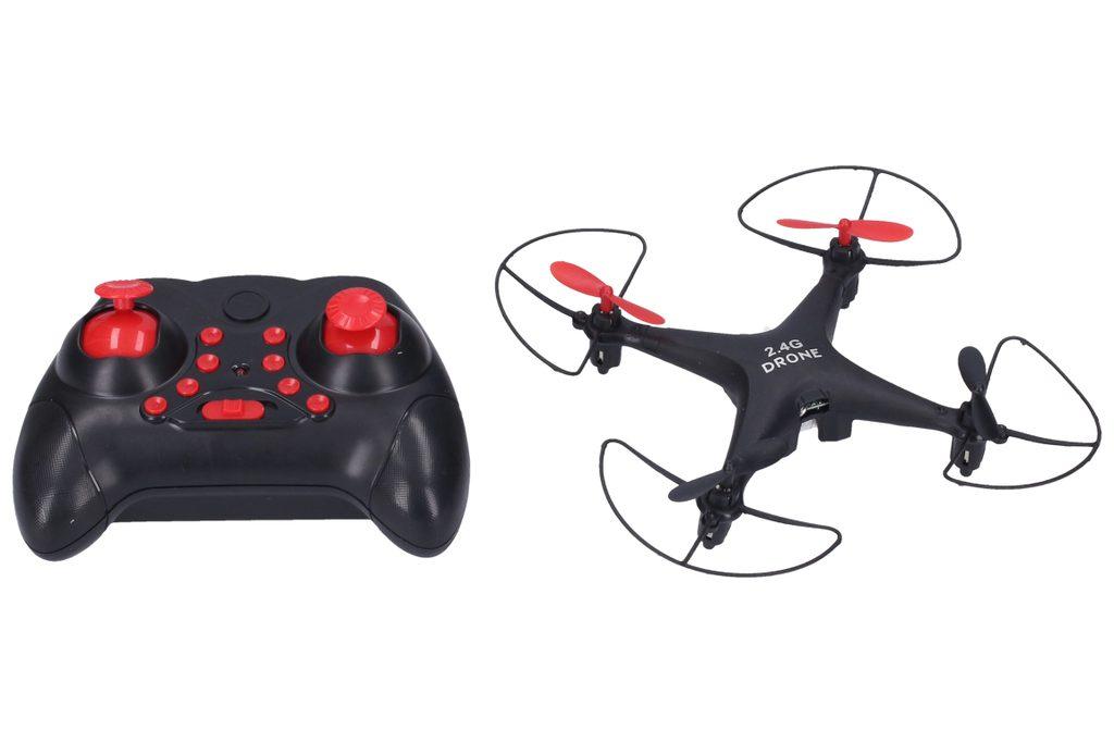 Dron RC 13 cm - černá barva, Wiky RC, W006480