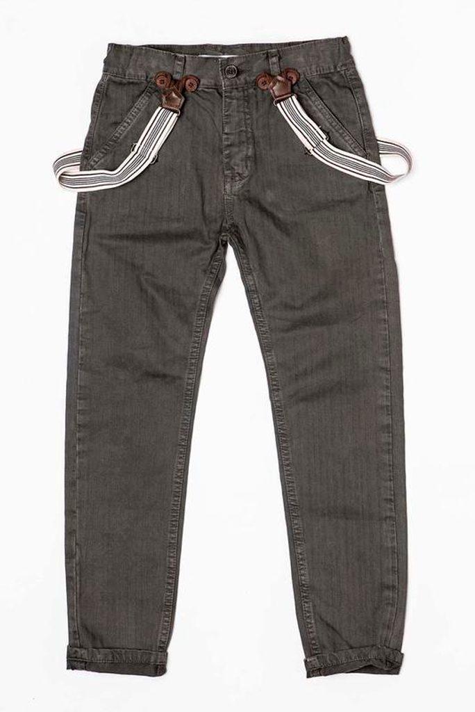 Kalhoty chlapecké se šlemi, Minoti, TRADE 5, šedá - 98/104