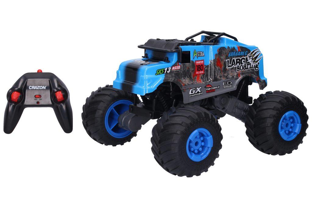 Auto terénní RC 29 cm - modrá barva, Wiky RC, W008147