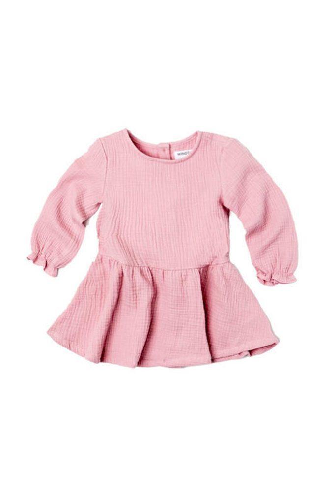 Šaty dívčí s řasenou sukní, Minoti, AUTUMN 11, fuchsia - 92/98