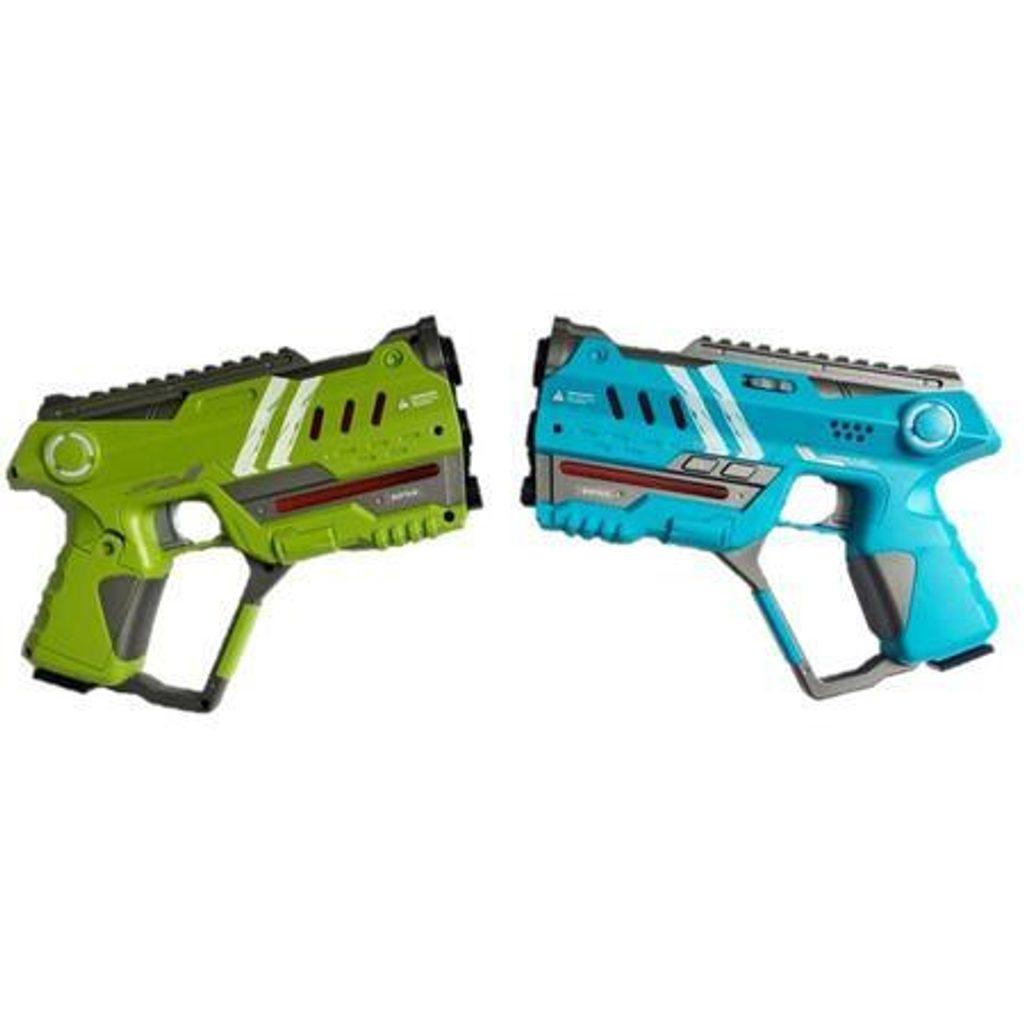 Laser hra pro dva 22 cm - modrá a zelená barva, Wiky, W009374
