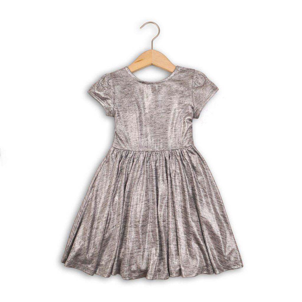 Šaty dívčí, Minoti, SHIMMER 4, šedá - 140/146