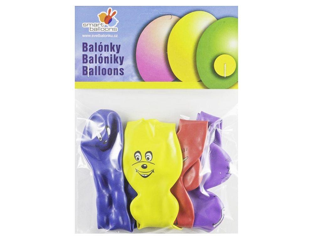 Balónek nafukovací - sada 4ks ZVÍŘÁTKA, Smart Balloons, W040590