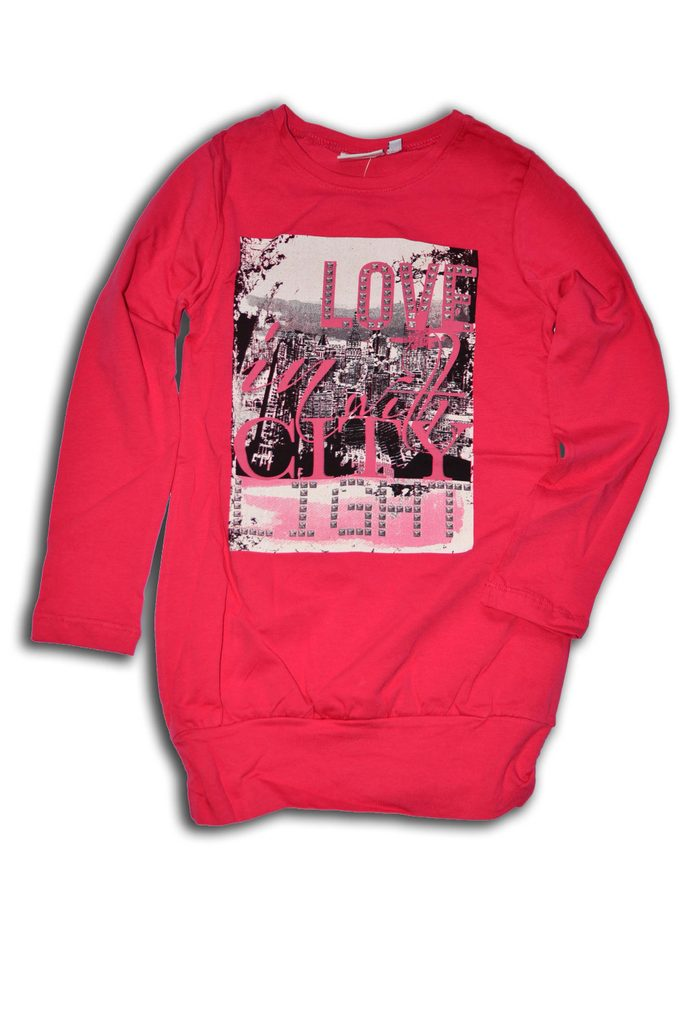 tričko dívčí, dlouhý rukáv, Wendee, OZFB39210-2, růžová - 152