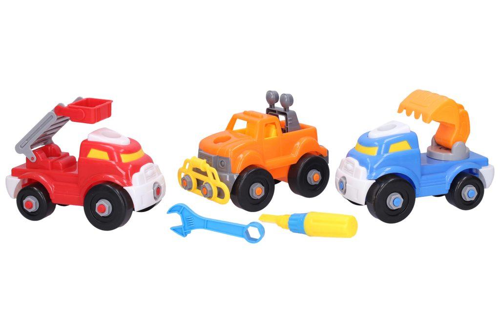 Dopravní prostředky šroubovací 3 ks, 16 cm, Wiky Vehicles, W006780