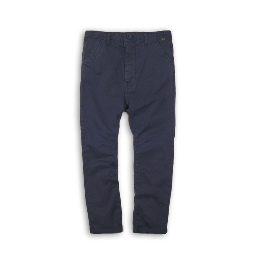 Kalhoty chlapecké Chino, Minoti, MED 6, modrá - 134/140