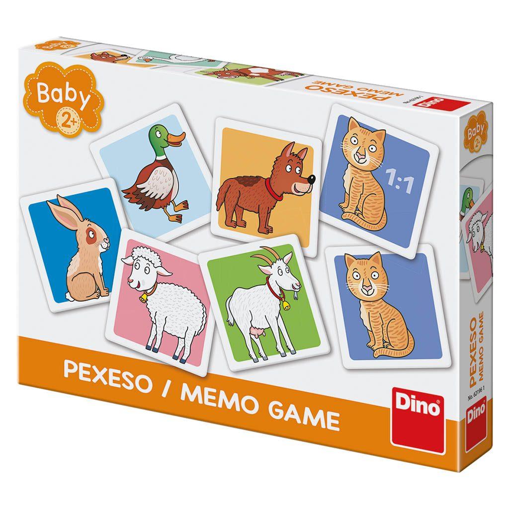 Pexeso baby domácí zvířata, Dino Hry, W562196