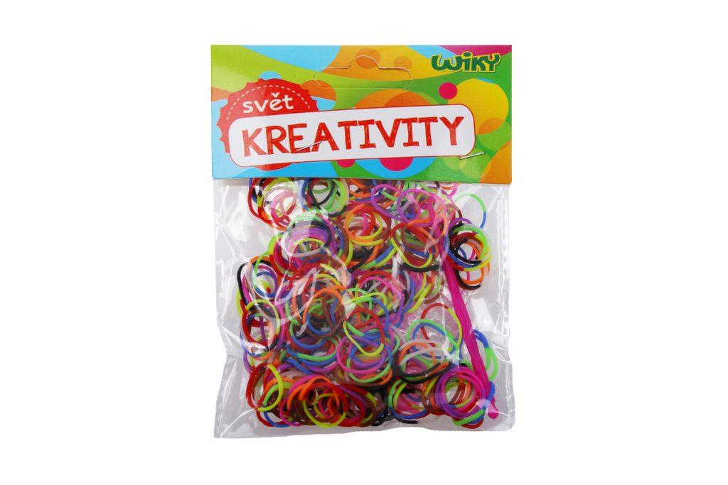 Kouzelné zaplétací gumičky dvoubarevné, mix barev 300 ks + příslušenst, W011589