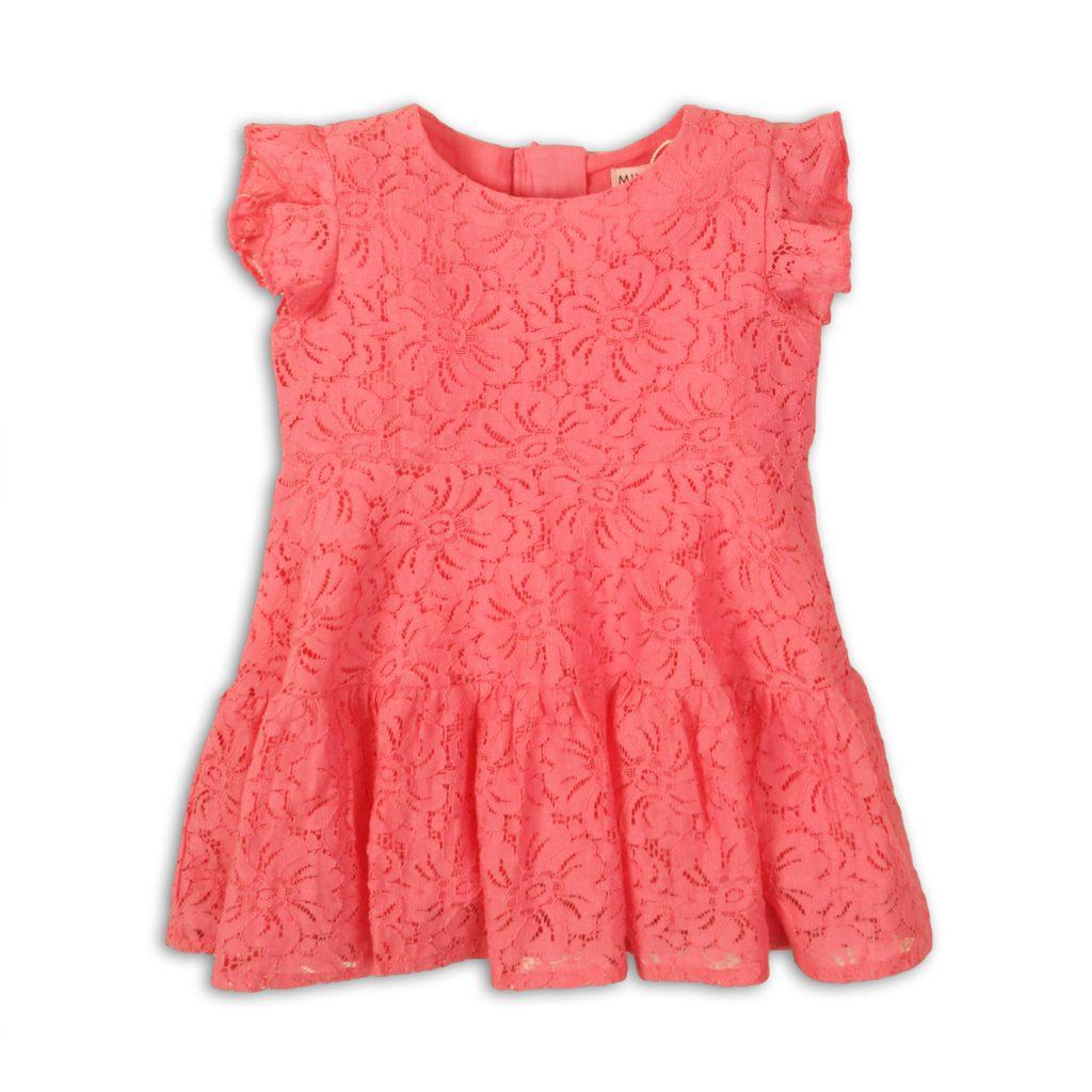 Šaty dívčí krajkové, Minoti, Fruits 5, růžová - 74/80