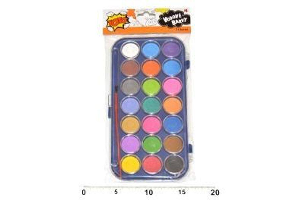 Vodové barvy 21 barev, TOTO, 831200