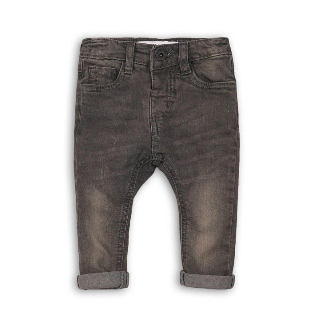 Kalhoty chlapecké džínové s elastenem, Minoti, KID 11, šedá - 110/116