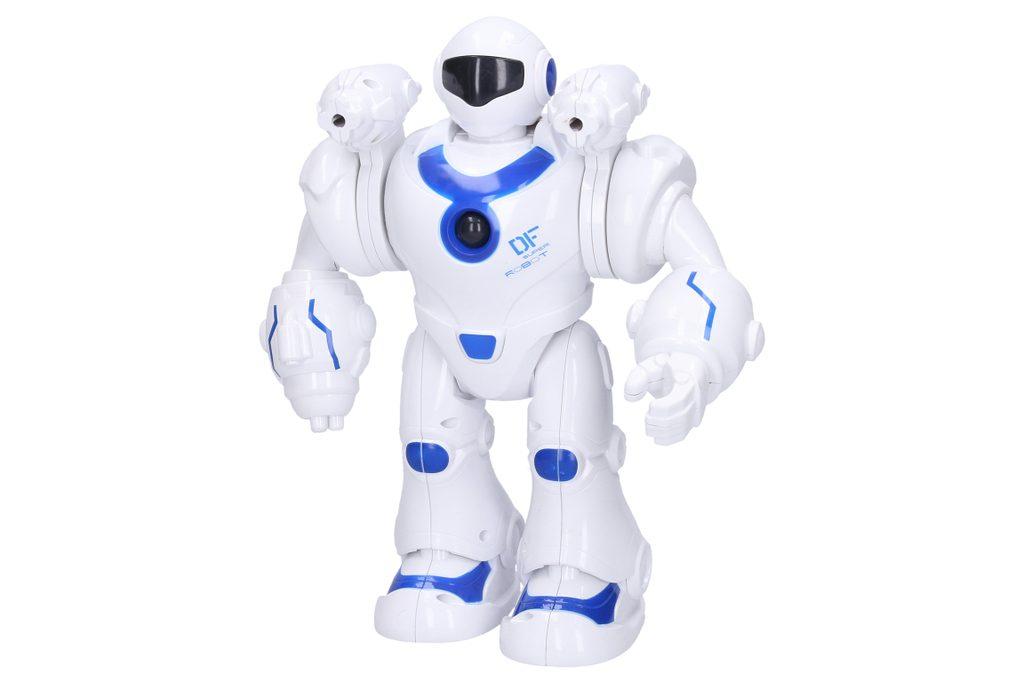 Robot Yobi střílející s efekty 25 cm, Wiky, W008149