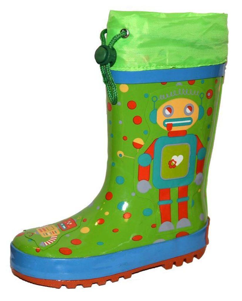 holínky dětské robot, Pidilidi, PL0053-19, zelená - 29