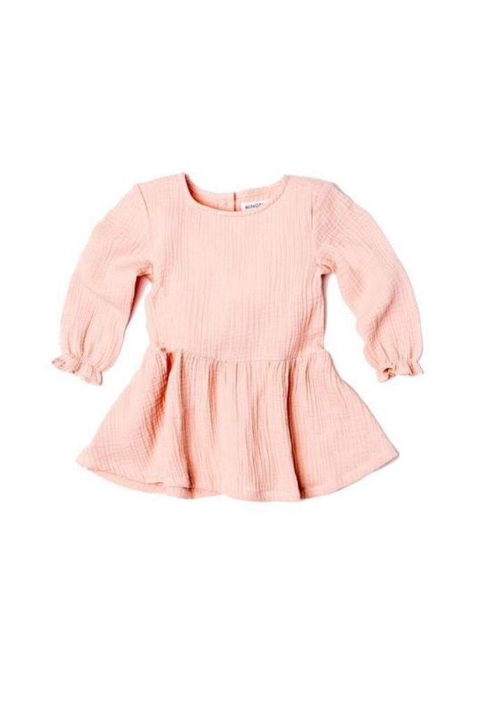 Šaty dívčí s řasenou sukní, Minoti, AUTUMN 11, růžová - 68/80