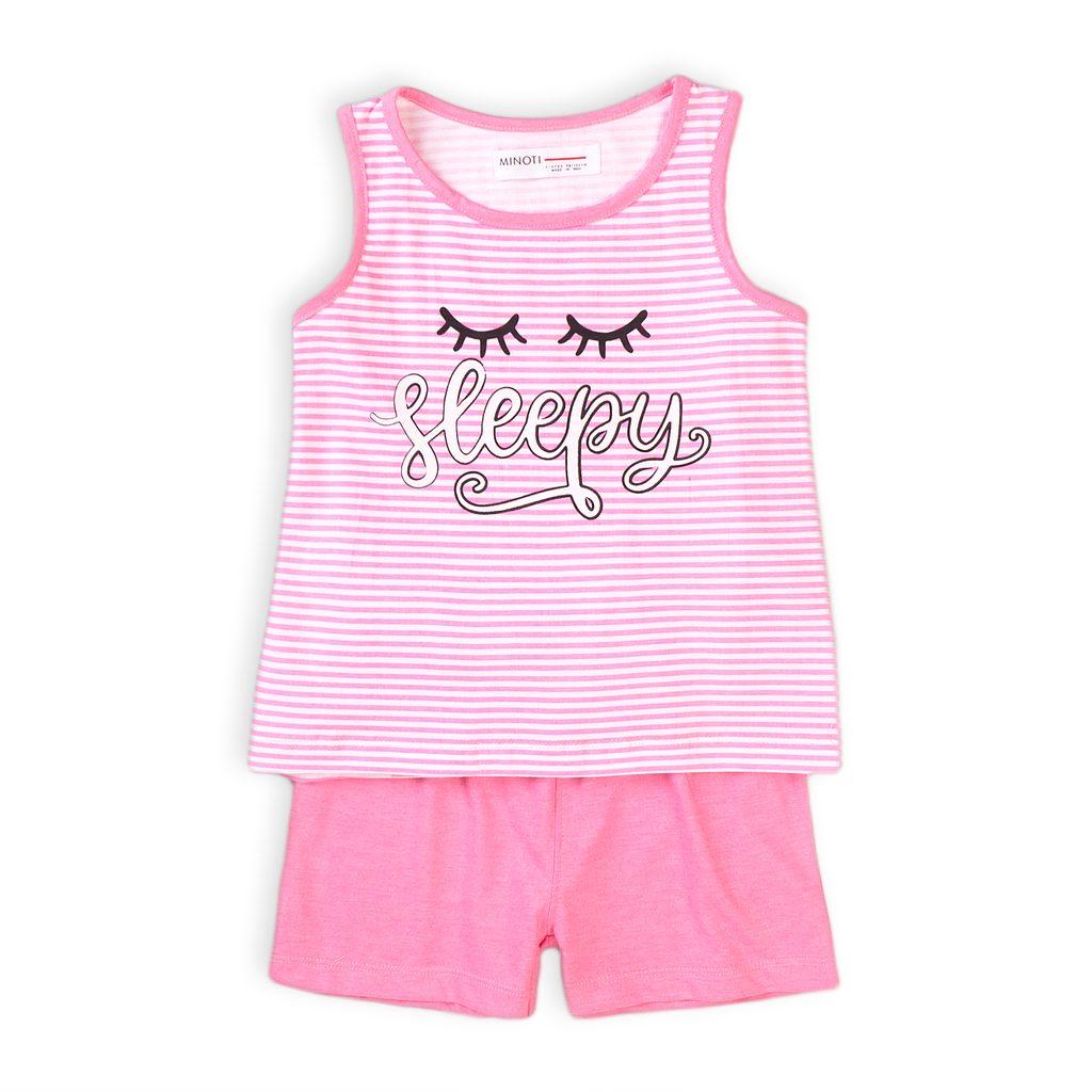 Pyžamo dívčí krátké, Minoti, KG PYJ 19, růžová - 152/158