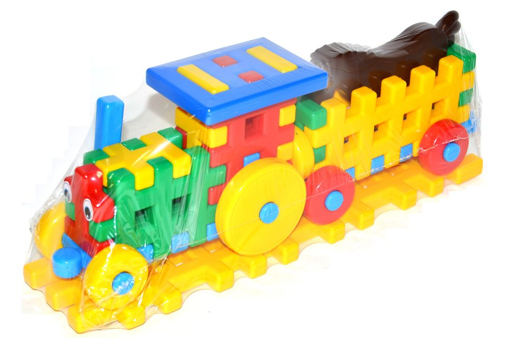 Stavebnice plastová - traktor, Wiky, W128018