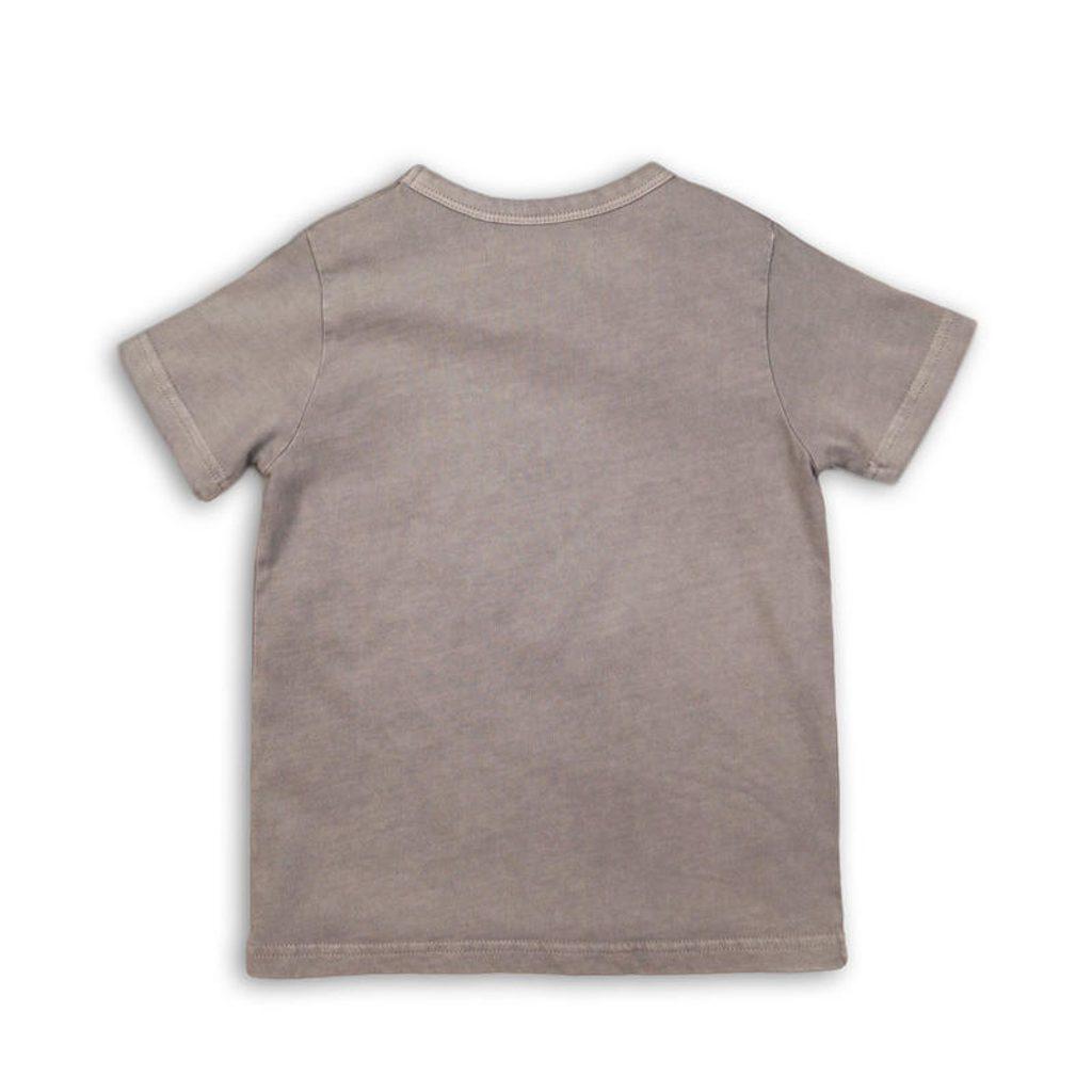 Tričko chlapecké s krátkým rukávem, Minoti, LUXE 4, šedá - 104/110