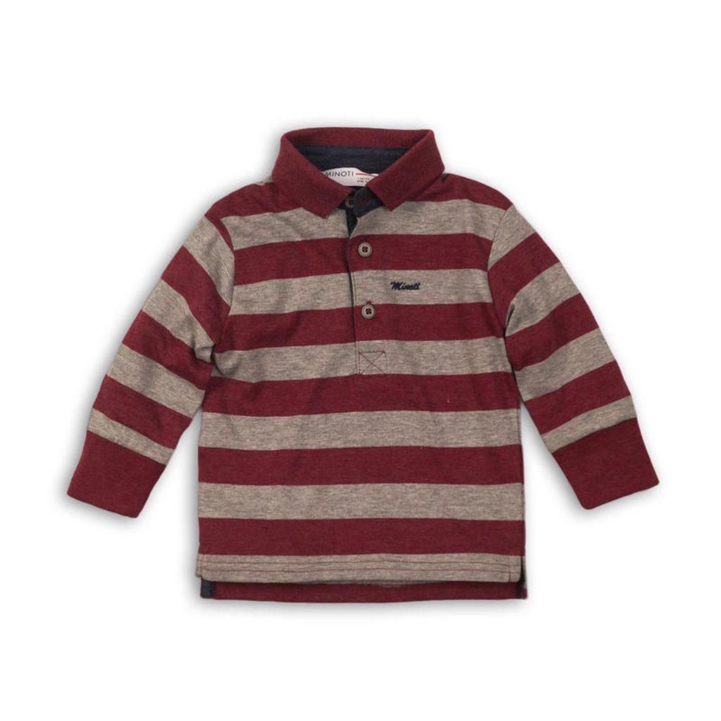 Tričko chlapecké POLO s dlouhým rukávem, Minoti, ALLSTAR 8, červená - 104/110