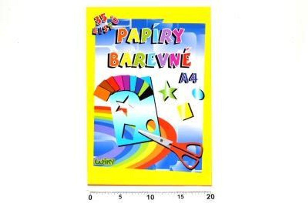 Papíry barevné W A4, 34 listů, 80g, WIKY, 886464