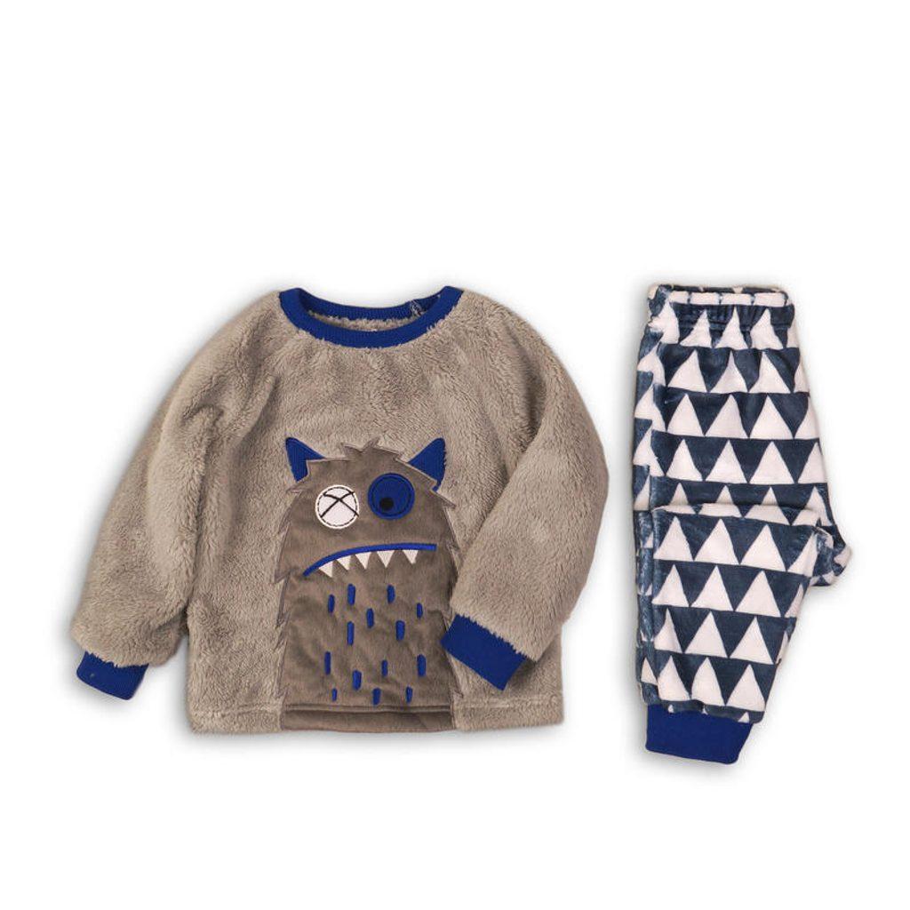 Pyžamo chlapecké fleezové, Minoti, FLUFF 2, kluk - 86/92
