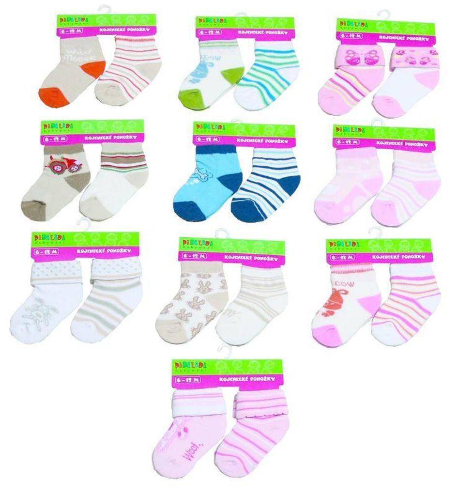 kojenecké ponožky  (0 až 12m), Pidilidi, PD114, mix - 68/80