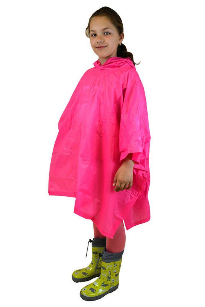 poncho PVC neonová, Pidilidi, PL0066, růžová - dospělá