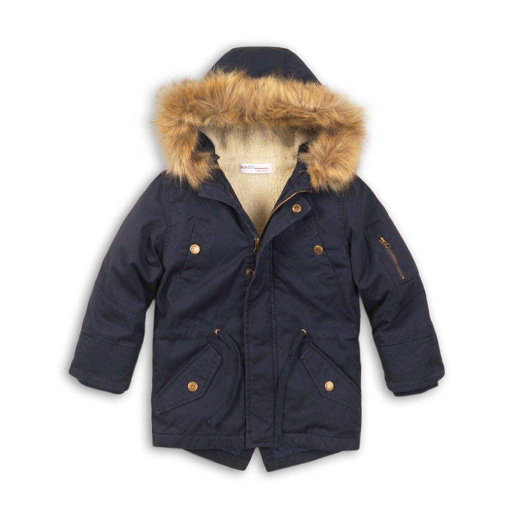 Kabát chlapecký zimní Parka, Minoti, PORT 2, modrá - 98/104