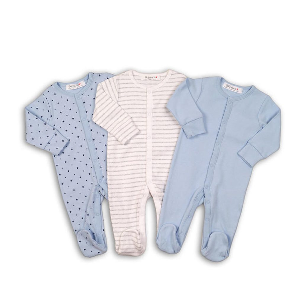 Overal kojenecký 3pack, Minoti, B BASIC 1, kluk - 62/68