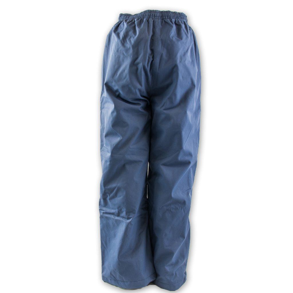 Kalhoty šusťákové bez šňůrky v pase, PD335, modrá - 128